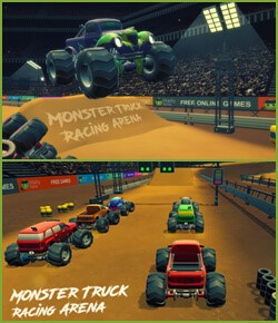 Monster Truck Racing Arena
